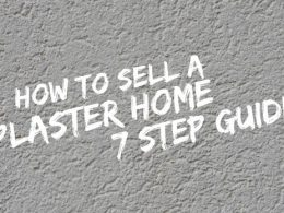 How to sell a plaster home
