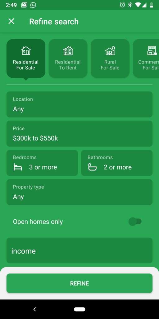 trademe property app search - buy investment property